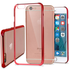 Glimmer Polycarbonate iPhone 6 Shell Case - Red and Clear