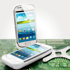 Power Jacket for Samsung Galaxy S3 Mini - 2000mAh - White