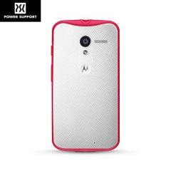 Power Support Air Jacket Grip Motorola Moto X Case - Cherry Red