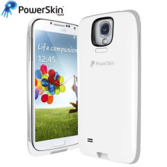 PowerSkin Extended Battery Case for Samsung Galaxy S4 - White