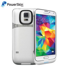 PowerSkin Ultra-Thin Samsung Galaxy S5 Extended Battery Case - White