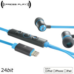 Press Play Unity 1 MFi Hi-Resolution Lightning Earphones - Blue