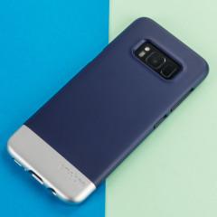 Prodigee Accent Samsung Galaxy S8 Plus Case - Navy / Silver