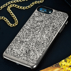 Prodigee Fancee iPhone 7 Plus Glitter Case - Black / Silver