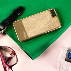 Prodigee Sparkle Fusion iPhone SE Glitter Case - Burnished Gold