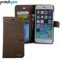 Prodigee Wallegee iPhone 6S / 6 Eco-Leather Wallet Case - Brown