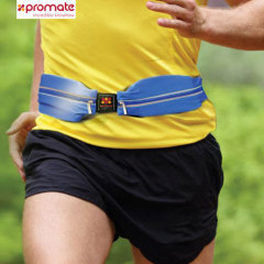 Promate liveBelt Twin Pocket Sports Belt Band - Blue