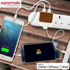 Promate Smart Plug MFi Lightning 4.4A UK Mains Charger