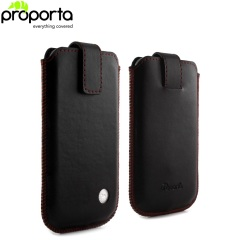 Proporta Large Aluminium and Leather Pouch
