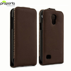 Proporta Leather Style Flip Case for Samsung Galaxy S4 Mini - Brown