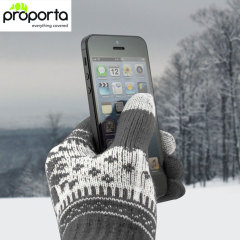Proporta Unisex Touch Screen Gloves - Dark Grey