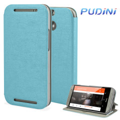 Pudini Flip and Stand HTC One M8 Case - Blue