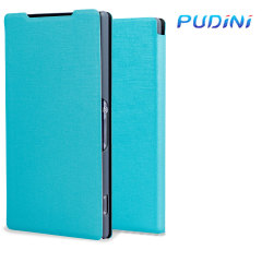 Pudini Leather Style Sony Xperia Z2 Case - Blue