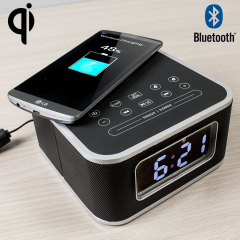 Olixar Qi-Tone S1 Alarm Clock Bluetooth Speaker with Qi Charging