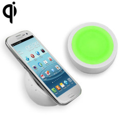 QI Wireless Charging Orb - White/Green