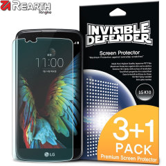 Rearth Invisible Defender LG K10 Screen Protector - 4 Pack