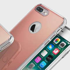 Rearth Ringke Fusion Mirror iPhone 7 Plus Case - Rose Gold
