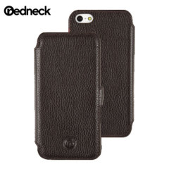 Redneck Red Line Leather iPhone 5S / 5 Book Case - Brown