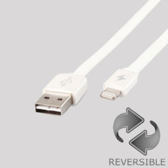 Remax Fully Reversible USB to Lightning Cable - White