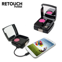 Retouch Blush Compact Mirror 4200mAh Portable Power Bank.