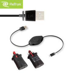ReTrak 2.4A Wall Charger and Retractable Lightning Charge & Sync Cable