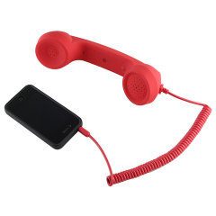 Retro Phone Hands-free Kit - Red