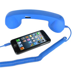 Retro Phone Handsfree Kit - Blue