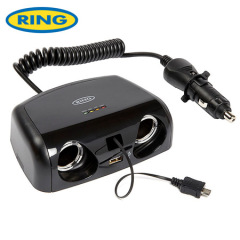 Ring Multisocket 12V Battery Analyser with Micro USB and USB Port
