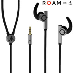 ROAM with Atari GameOn In-Ear Headphones with In-line Mic - Black