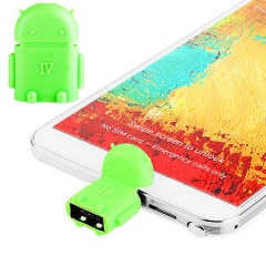Robot MicroUSB On-The-Go (OTG) Adapter - Green