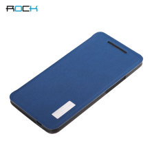 Rock Elegant Side Flip Case For HTC One M7 - Lake Blue