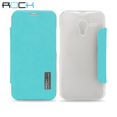 ROCK Elegant Side Flip Case for Motorola Moto X - Teal Green