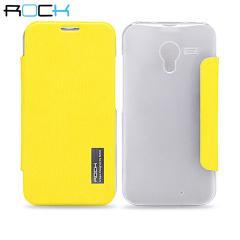 ROCK Elegant Side Flip Case for Motorola Moto X - Yellow