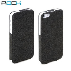 Rock Eternal Vertical Leather Style Case for iPhone 5 - Black