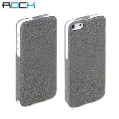 Rock Eternal Vertical Leather Style Case for iPhone 5 - Grey