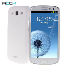Rock Shinning Ultra Thin Nakedshell for Samsung Galaxy S3 - White