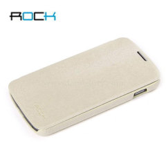 Rock Ultra Thin Leather Flip Case - Google Nexus 4 - Beige