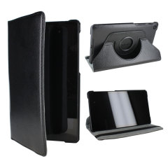 Rotating Leather Case for Google Nexus 7 2013 - Black