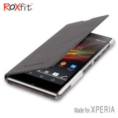 Roxfit Book Flip Case for Sony Xperia Z1 Compact - Carbon Black
