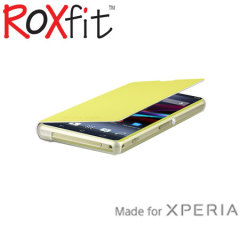 Roxfit Book Flip Case for Sony Xperia Z1 Compact - Lime Green