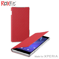Roxfit Book Flip Case for Sony Xperia Z2 - Carbon Red