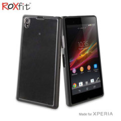 Roxfit Gel Shell Case for Sony Xperia Z1 Compact - Black / Clear