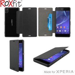 Roxfit Gel Shell Flip Plus Sony Xperia Z3 Case - Nero Black