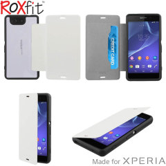 Roxfit Gel Shell Flip Plus Sony Xperia Z3 Compact Case - Polar White
