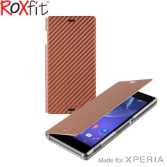 Roxfit Slim Book Sony Xperia Z3 Case - Bronze Carbon