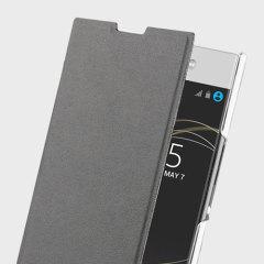 Roxfit Sony Xperia L1 Simply Slim Book Case - Black / Clear