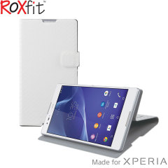 Roxfit Sony Xperia T2 Ultra Book Case - Carbon White