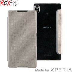 Roxfit Sony Xperia Z5 Premium Slim Book Case - Silver