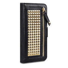 Roxie Studded iPhone 6 Wallet Case - Black / Gold