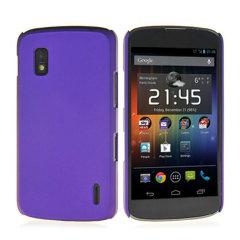 Rubberised Hard Shell Case for Google Nexus 4 - Purple
